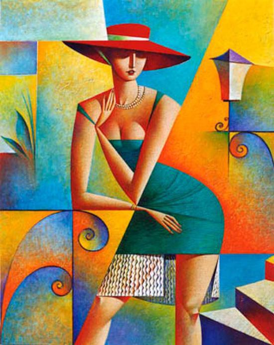 Picture-10 ( 20 Vibrant Cubist Art works and Illustrations by Georgy Kurasov )